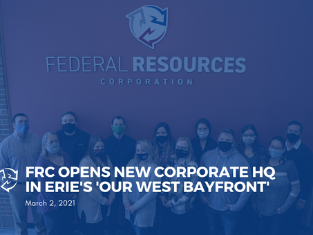 Federal Resources Corporation Open's New Corporate Headquarters in Erie's 'Our West Bayfront'