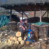 Holzspalten