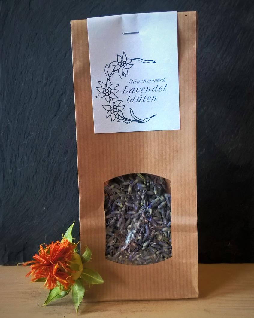 Lavendelblüten Räucherwerk, Patte de Lion