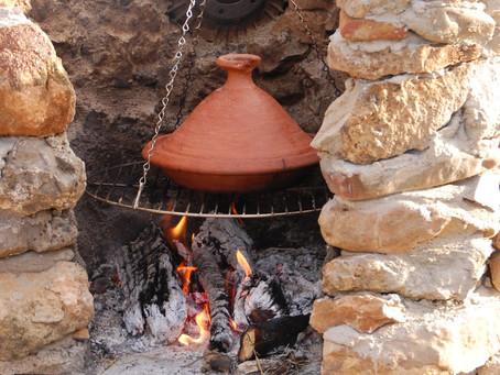Lamm-Tajine mit Kartoffeln und Oliven
