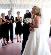 The kiss, congratulations
