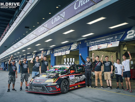 H.DRIVE RACING TEAM got double championships for  Round 3-4, Idemitsu Super Turbo Thailand