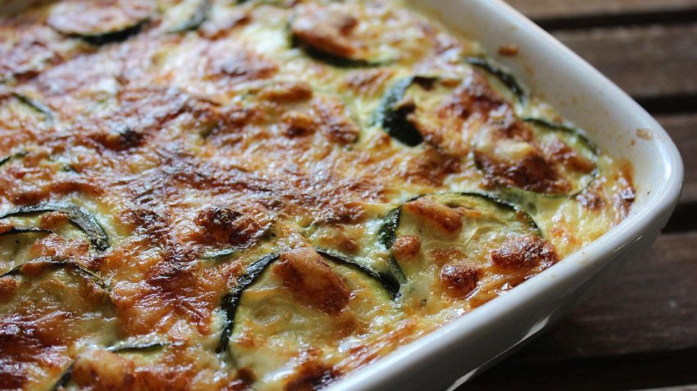 Courgette and Mozzarella gratin
