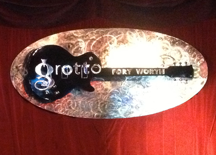 Grotto Stage Guitar Sign
