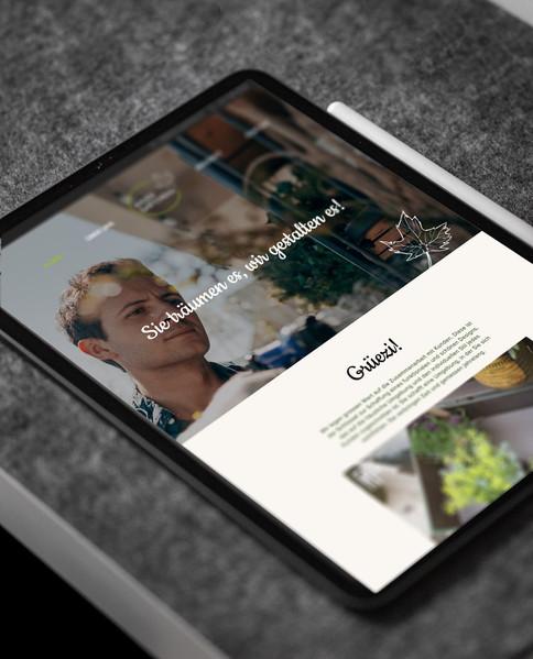 Konzept und Gestaltung Webseite