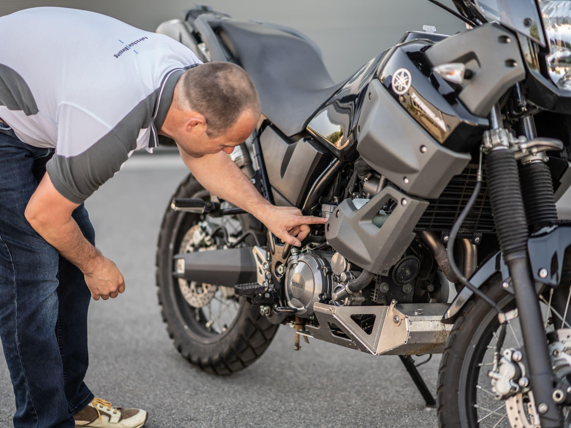 Erklärung Motorradbestandteile