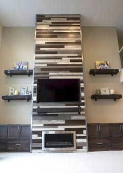 Fireplace Accent Wall Install .jpg