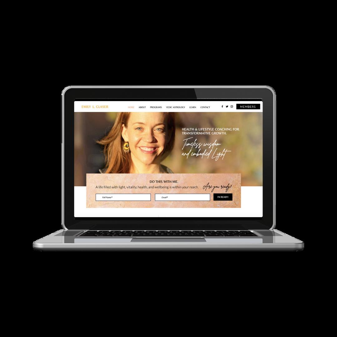 Wix Website - Minimal Feminine Service P