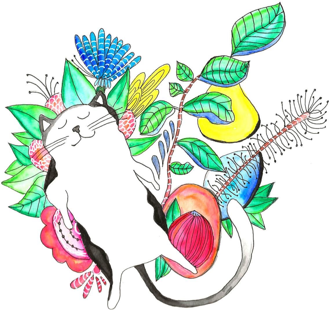 Happy Cat by Jocelyn Fitzgerald