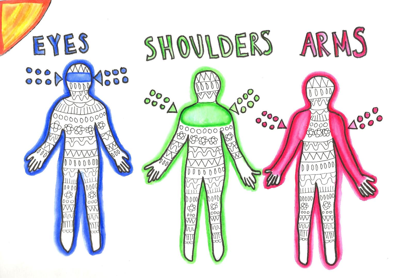 Eyes Shoulders Arms by Jocelyn Fitzgerald