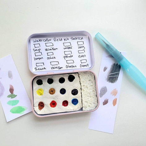 Watercolor-Kit-In-Tin-Travel-Watercolors