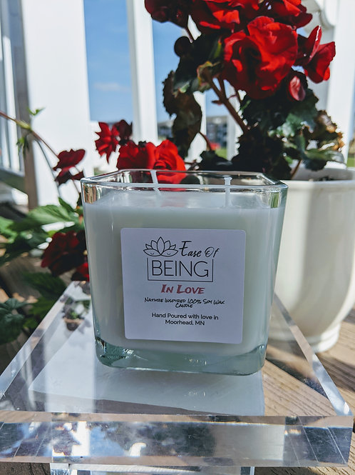 In Love soy wax candle