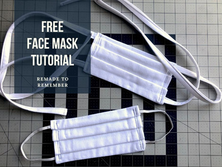 Free Face Mask Sewing Tutorial w/ Pictures