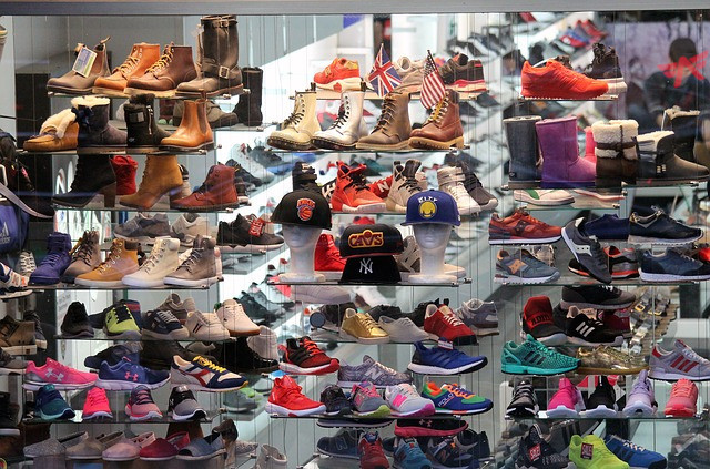 Large variety of shoes to choose from