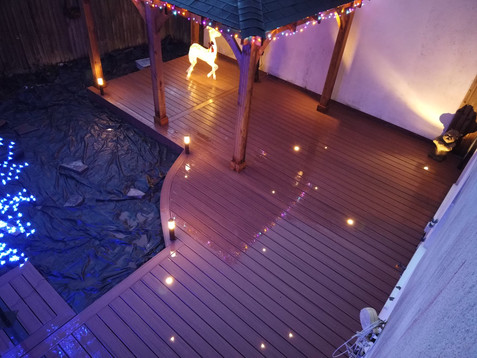 Trex Transcend Tiki Torch composite deck