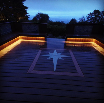 Trex Composite Decking with in-lite outd