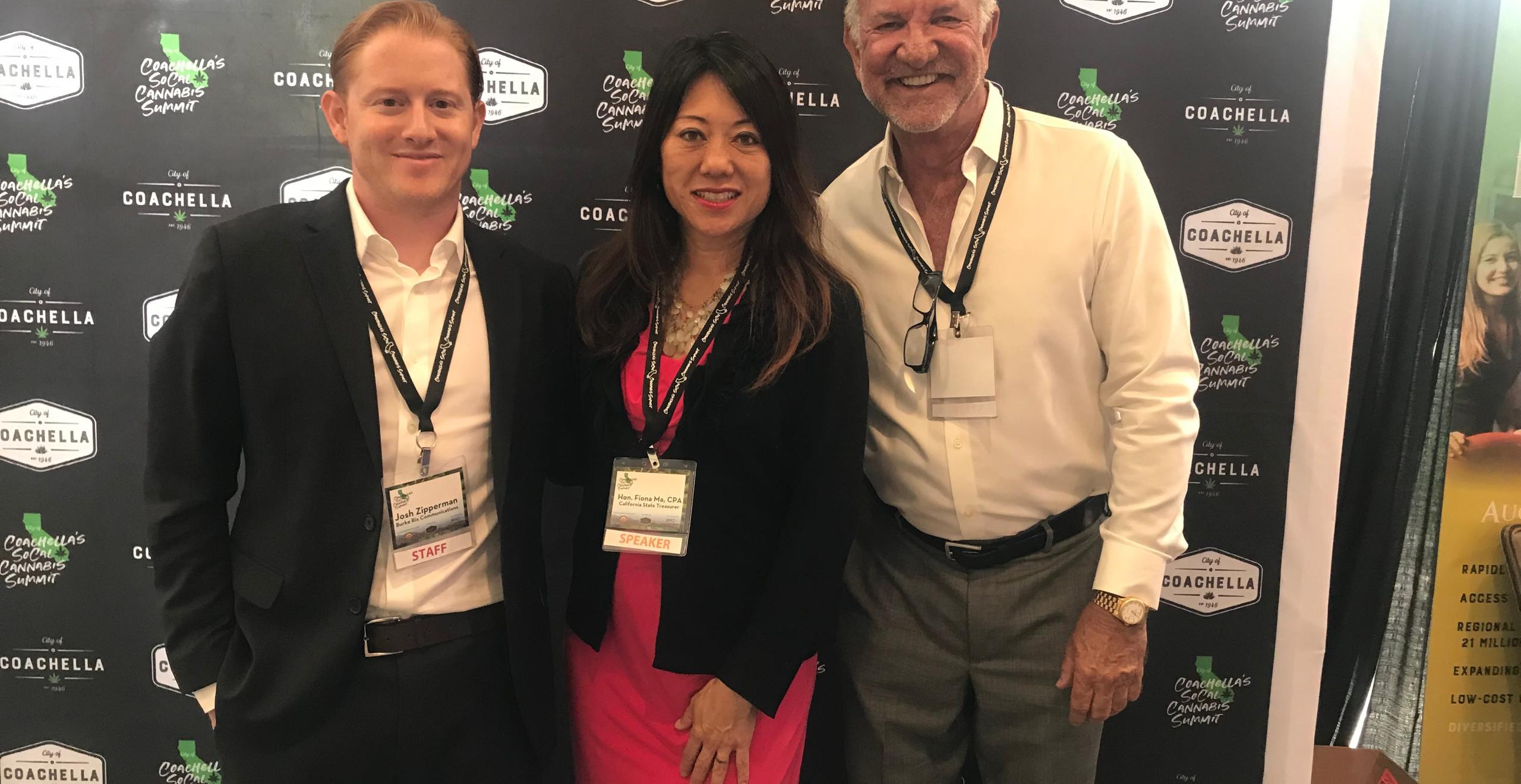 BRC's Josh Zipperman and Brian Rix with State Treasurer Fiona Ma, CPA