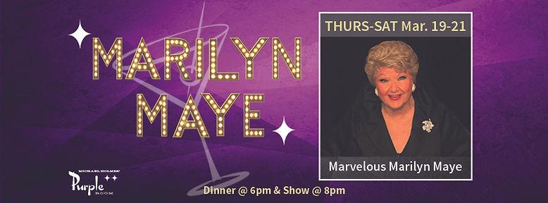 THURS-SAT Mar. 19-21 Marilyn Maye Facebo