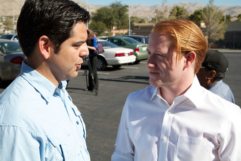 Engaged in conversation with good friend Congressman Raul Ruiz M.D.