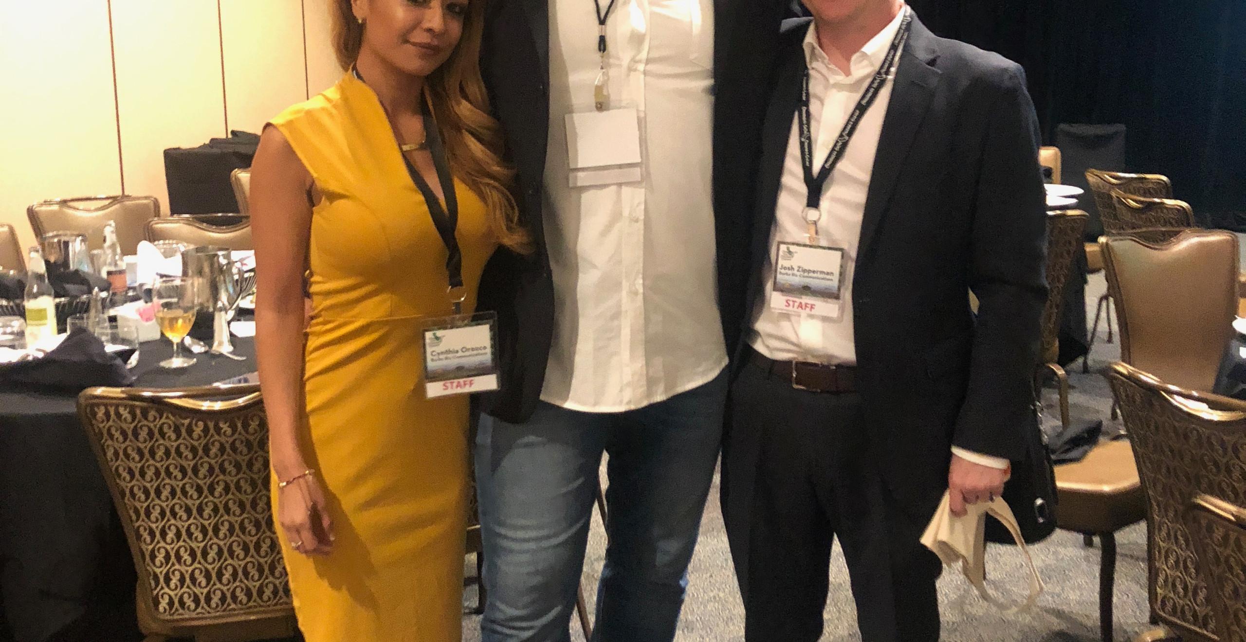 BRC's Cynthia Orozco & Josh Zipperman with NFL All-Star Athlete Kyle Turley
