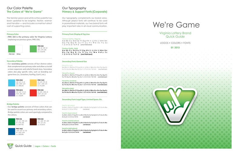 We're game brand guide