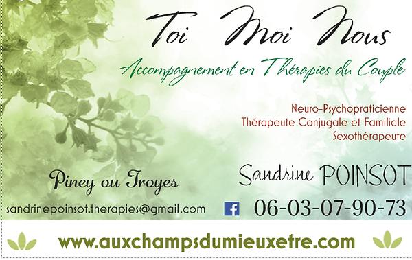 Thérapie de Couple Conjugal - Sexothérapie Sexothérapeute Troyes Piney Sandrine Poinsot