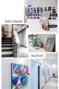 Dental Practice Design Trends | Letter Boards and Local Art | Xite Realty