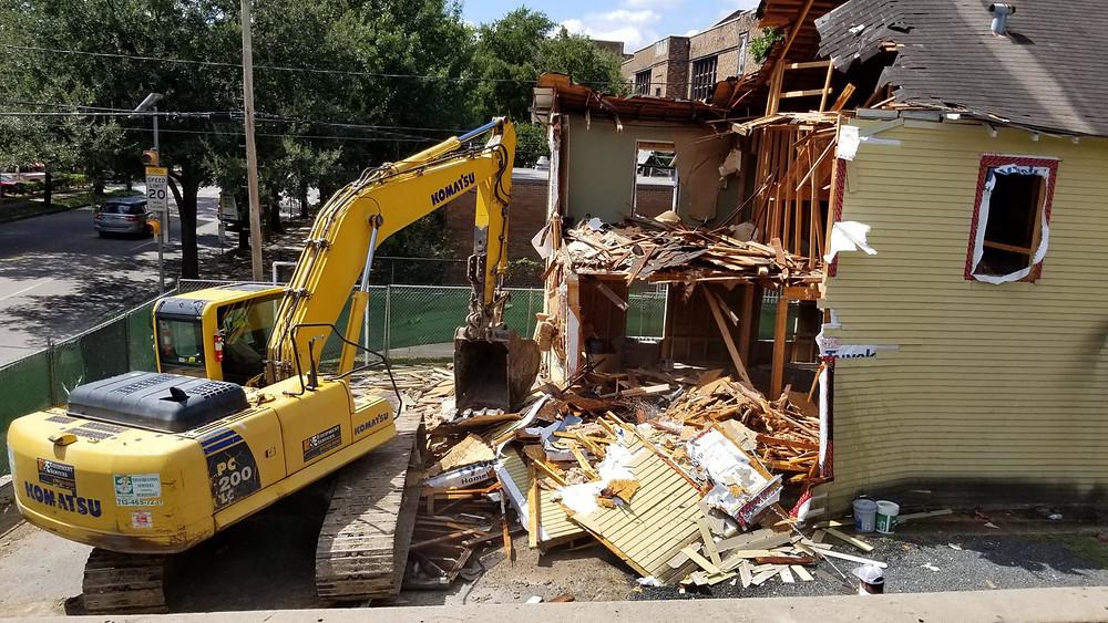 Dental office deconstruction in Houston, Tx