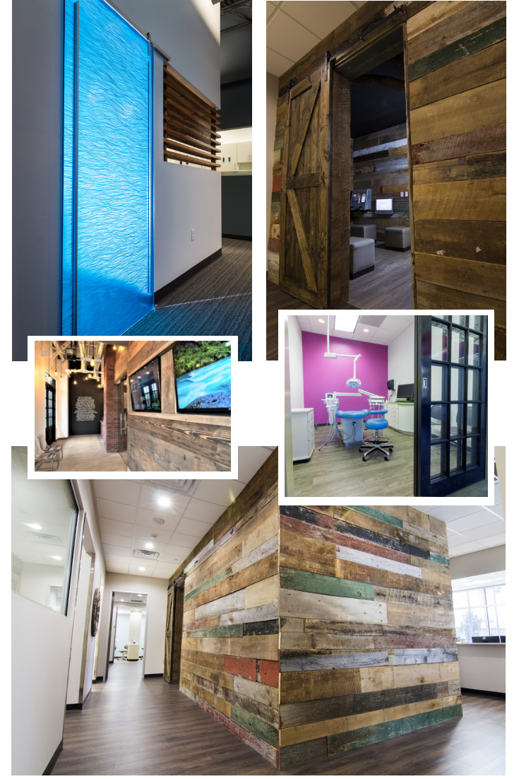 Dental Office Design Trends | Barn Doors and Raw Wood | Xite Realty