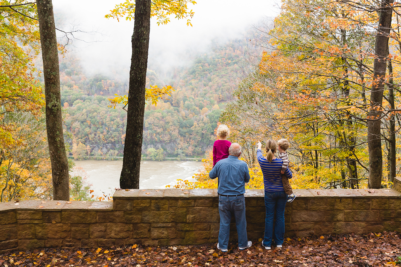 Enjoying fall with family New River Gorge National River