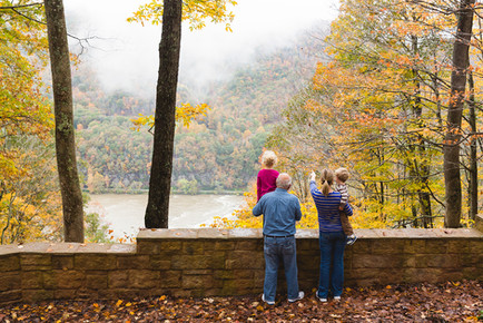 Family at Sandstone Falls Overlook