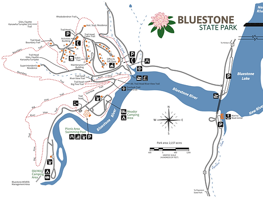bluestone state park trails