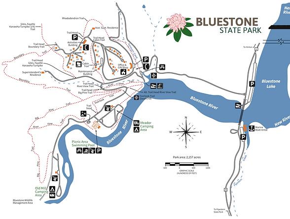 bluestone state park trails
