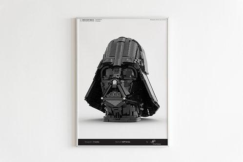 LEGO Darth Vader poster (digital print)