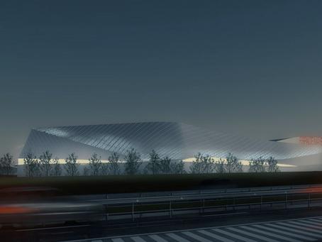 Arena Laval: plusieurs identités d'un bâtiment la nuit