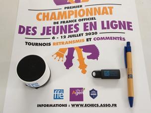 Lots de récompenses pour les joueurs du Championnat de France des jeunes en ligne