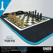 Magnetic Roll-up chess set