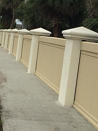 concrete privacy wall