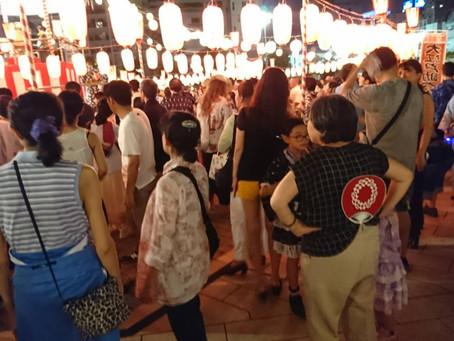 築地本願寺の盆踊り大会