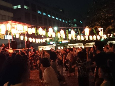 銀座/町内会の盆踊り大会にて♪<雑談>