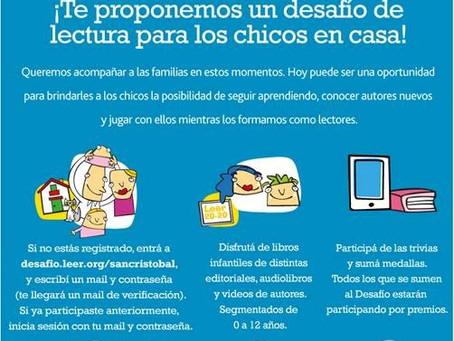 Lectura para nuestros chicos #Mequedoencasa | Mutual del Personal del Grupo San Cristóbal