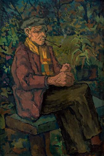 Hombre sentado, s.f_