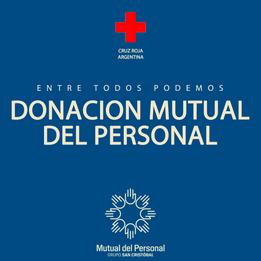 DONACIÓN MUTUAL DEL PERSONAL - Cruz Roja Argentina