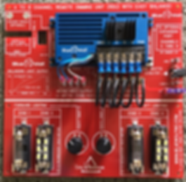Aircraft Dimmer Test board  - 4 channel dimming unit test panel - Blue Wolf