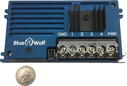 Image of a 4 channel dimming unit. This RDU can be used for NVG dimmer circuits - by Blue Wolf