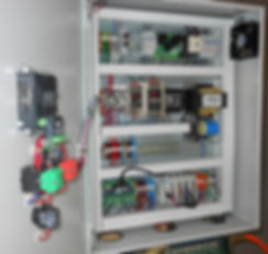 Electrical cabinet with power supplies and PLC designed by Blue Wolf