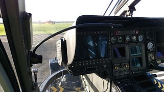 14 inch Map Light installed in a Helicopter | Blue Wolf