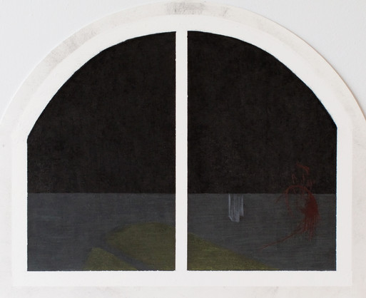 Quadriptyque Les cris de la vitre, dessu