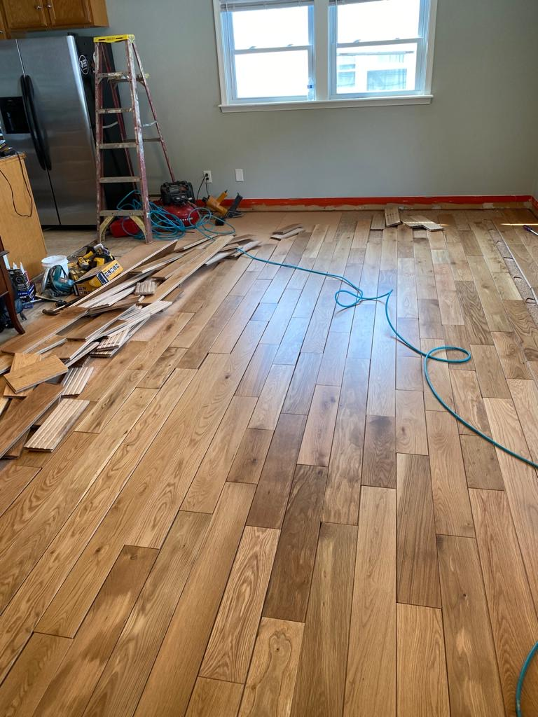 New Hardwood Installation
