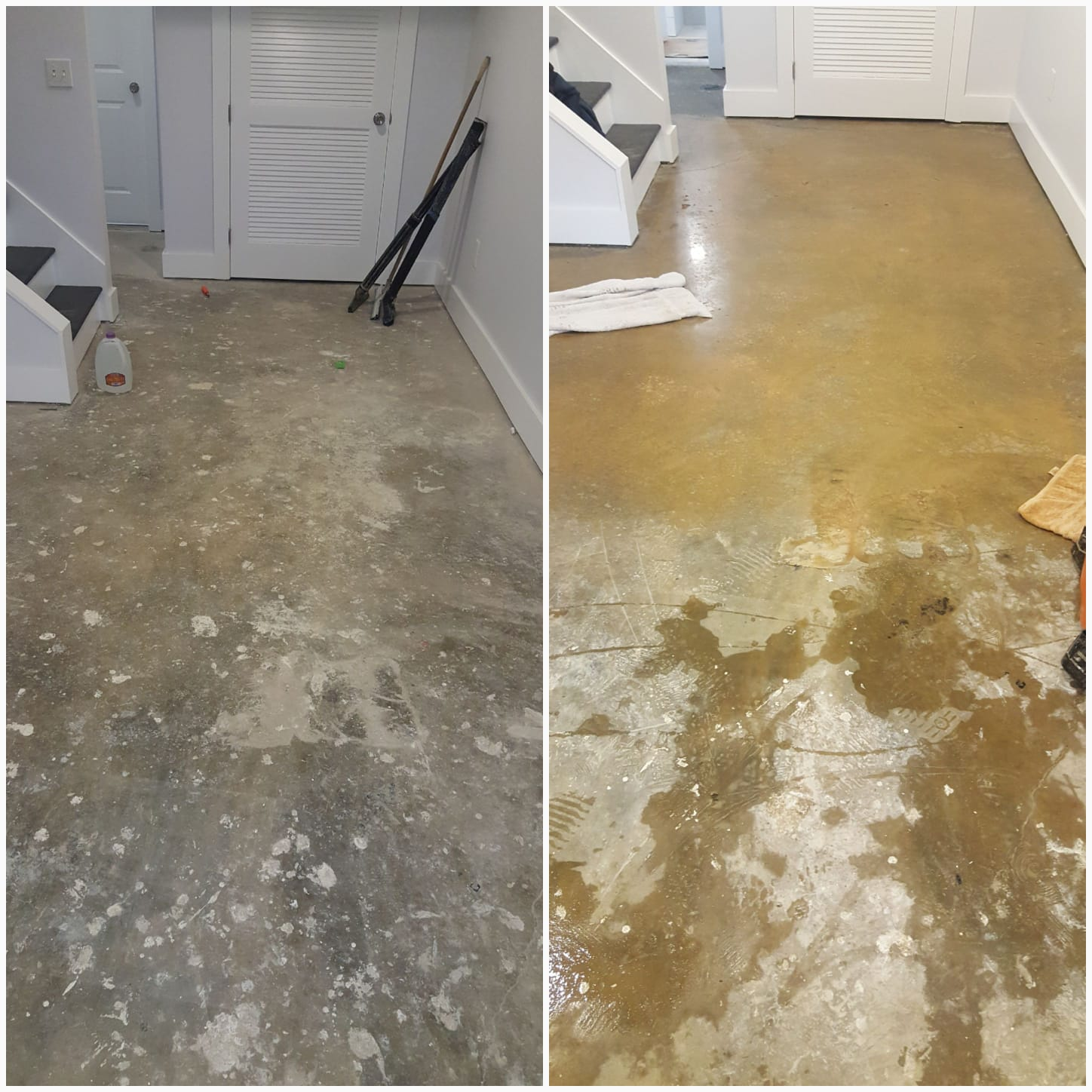 Clean and Grind Concrete